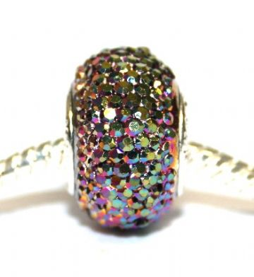 1piece x 16mm*10mm Big hole multi-colour diamond acrylic beads - fitted pandora style bracelet - S.H02 - BHDAB032 - 16